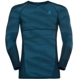 Odlo Suw Performance Blackcomb LS Top Crew Neck Men poseidon-blue jewel-atomic blue